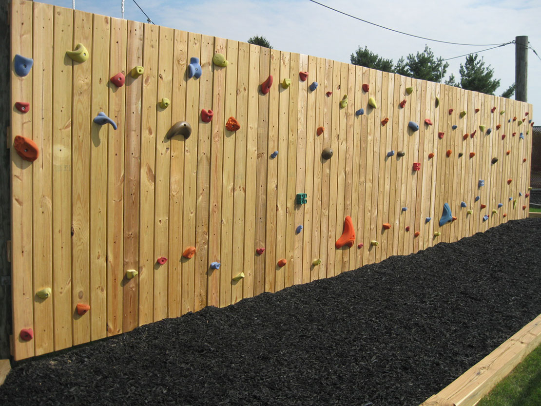 The Beyond Boundaries Challenge Course Climbing Wall